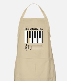She Wants the D Piano Music Apron