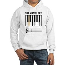 She Wants the D Piano Music Hoodie