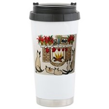Siamese Holiday Firepla Travel Mug