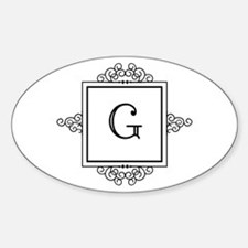 Fancy letter G monogram Stickers