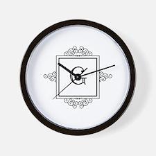 Fancy letter G monogram Wall Clock