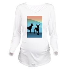 Blue Mountain Xolo Long Sleeve Maternity T-Shirt
