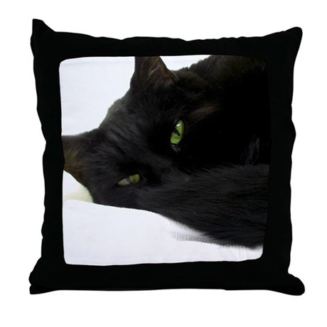 Kitty Throw Pillow : Kitty Throw Pillow by Fabled