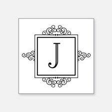 Fancy letter J monogram Sticker