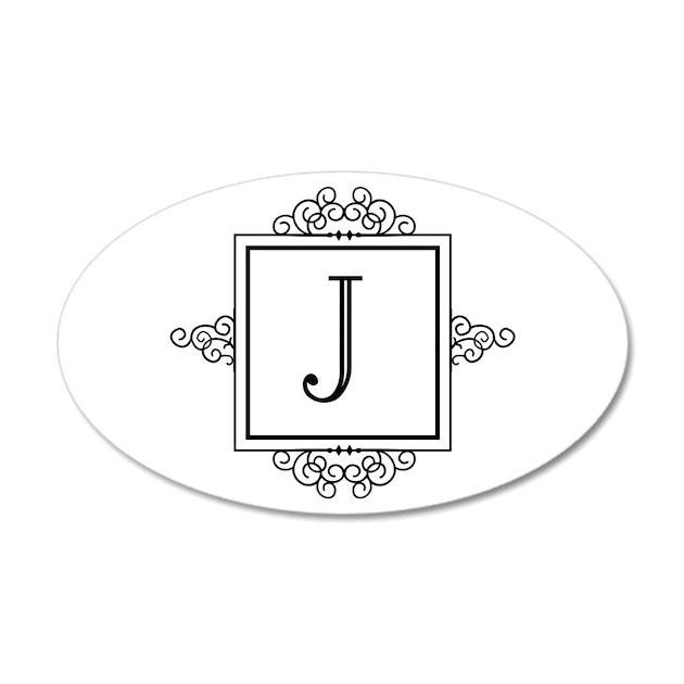 fancy letter j monogram wall sticker by admin cp49789583 fancy interlock monogram wall decal by alphabet garden designs