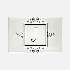 Fancy letter J monogram Magnets