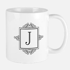 Fancy letter J monogram Mugs