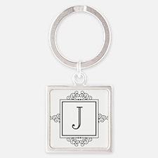 Fancy letter J monogram Keychains
