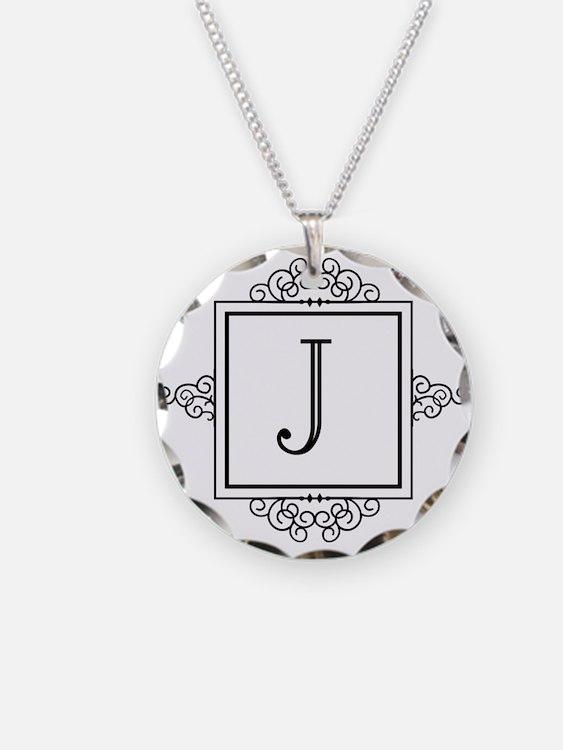 Fancy letter J monogram Necklace