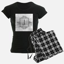Fancy letter J monogram pajamas