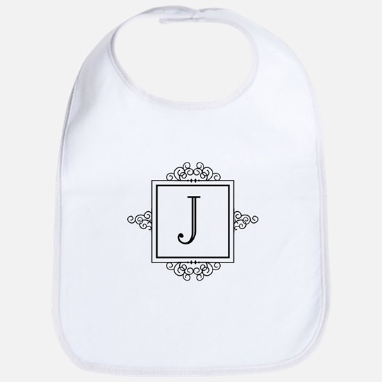 Fancy letter J monogram Bib