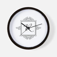 Fancy letter K monogram Wall Clock