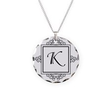 Fancy letter K monogram Necklace