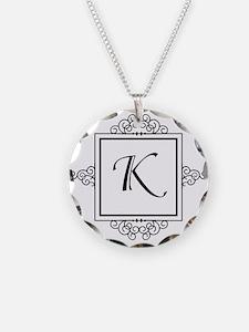 Fancy letter K monogram Necklace