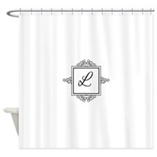 Fancy letter L monogram Shower Curtain