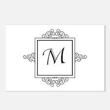 Fancy letter M monogram Postcards (Package of 8)