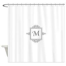 Fancy letter M monogram Shower Curtain