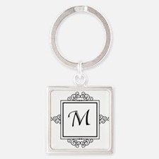 Fancy letter M monogram Keychains