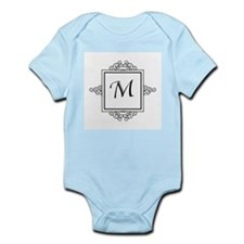 Fancy letter M monogram Body Suit
