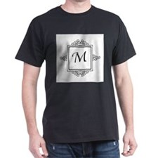 Fancy letter M monogram T-Shirt