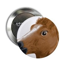 "Horse Head Creepy Mask 2.25"" Button"