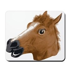Horse Head Creepy Mask Mousepad