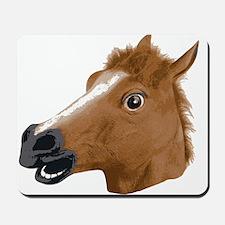 Horse Head Creepy Mask Mousepad