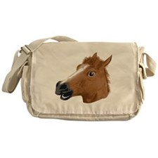 Horse Head Creepy Mask Messenger Bag