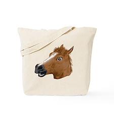 Horse Head Creepy Mask Tote Bag