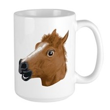 Horse Head Creepy Mask Mugs