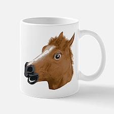 Horse Head Creepy Mask Mugs