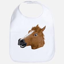 Horse Head Creepy Mask Bib