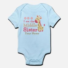 Pink Giraffe Middle Sister - Personalized Infant B