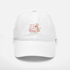 Pink Giraffe Middle Sister - Personalized Baseball Baseball Cap