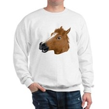 Horse Head Creepy Mask Sweatshirt