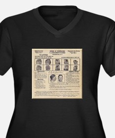 Clyde Barrow Wanted Poster Plus Size T-Shirt