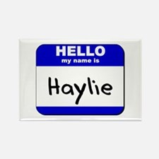 hello my name is haylie Rectangle Magnet