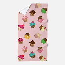 Sparkly Cupcakes Beach Towel