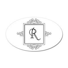 Fancy letter R monogram Wall Sticker