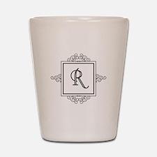 Fancy letter R monogram Shot Glass