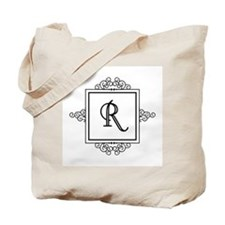 Fancy letter R monogram Tote Bag