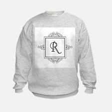 Fancy letter R monogram Sweatshirt