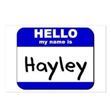 hello my name is hayley  Postcards (Package of 8)