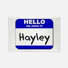 hello my name is hayley Rectangle Magnet