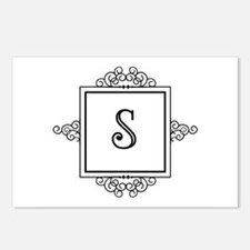 Fancy letter S monogram Postcards (Package of 8)