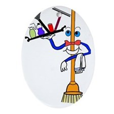 Mr.Happy Clean Oval Ornament