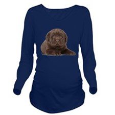 Chocolate Lab Puppy Long Sleeve Maternity T-Shirt