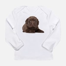 Chocolate Lab Puppy Long Sleeve Infant T-Shirt