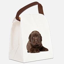 Chocolate Lab Puppy Canvas Lunch Bag
