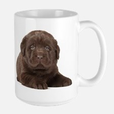 Chocolate Lab Puppy Large Mug